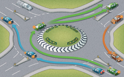 Compensação por accidente de trânsito numa rotunda